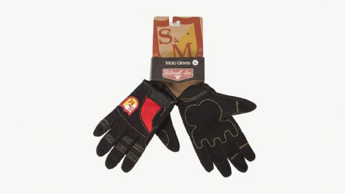 S&M Biltwell Shield Glove Black/Red Medium